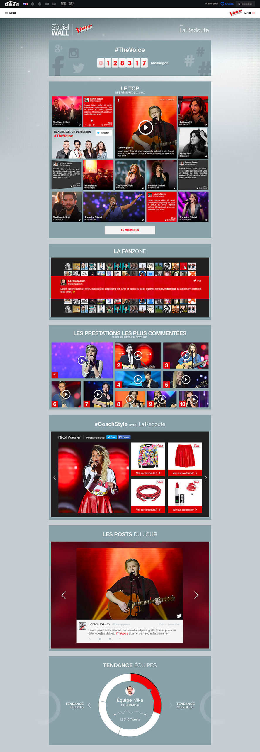 The Voice social wall