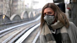 Shooting photo Blossum Mask anti-pollution