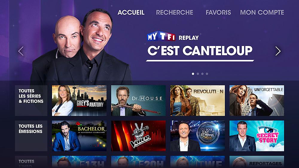 MyTF1, application IPTV
