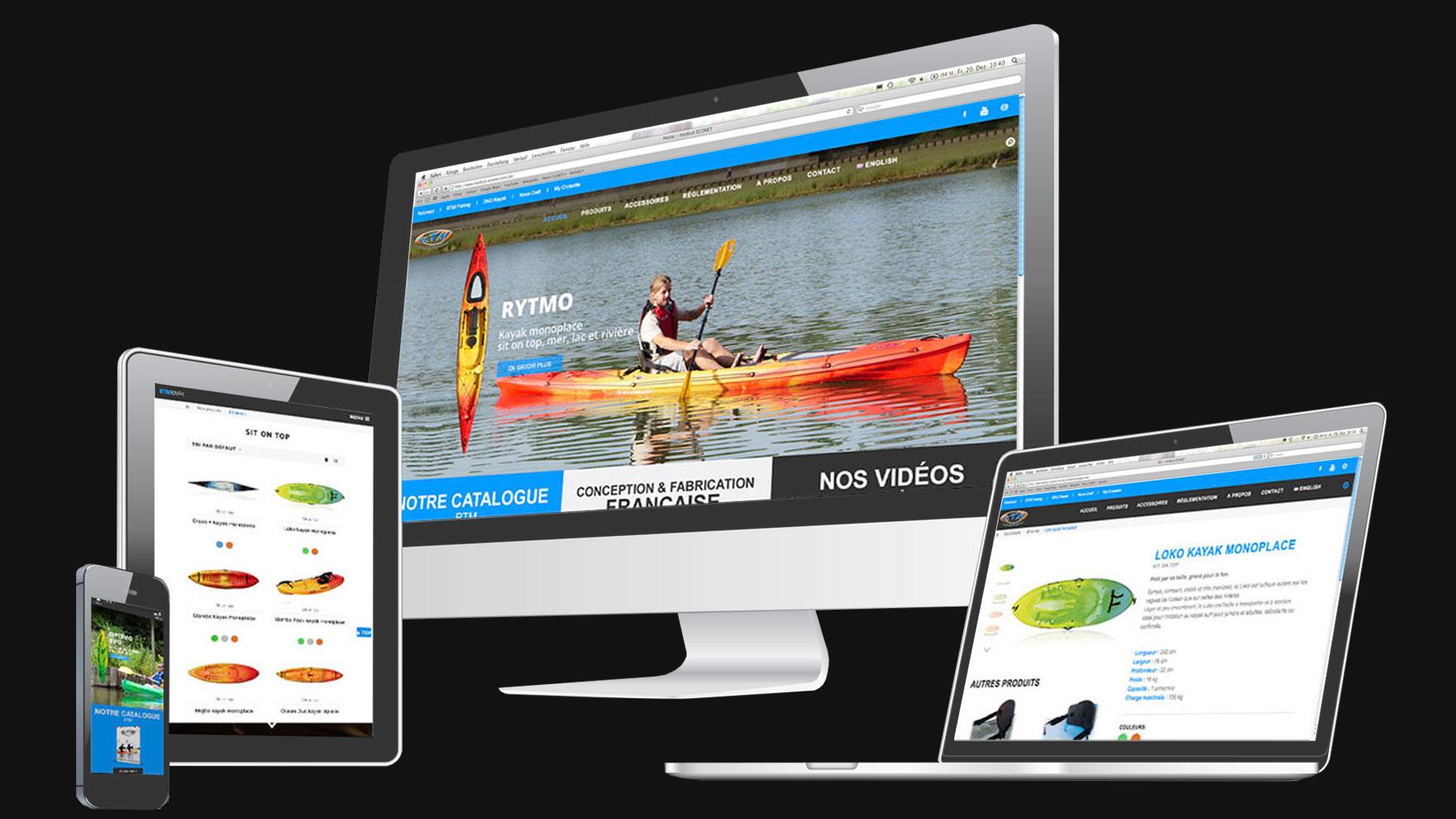 RTM Kayak, site internet
